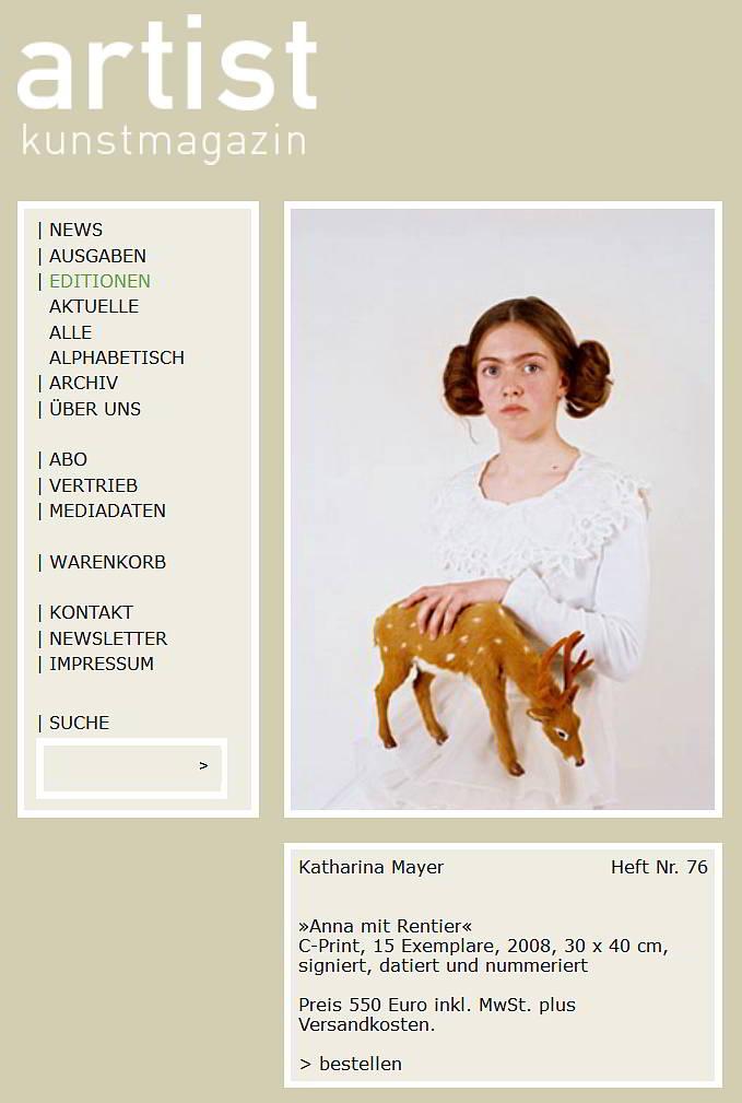 Sonder-Edition Anna mit Rentier